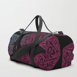 d20 dice pattern - darker gradient pastel - icosahedron Duffle Bag