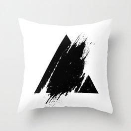 Splashed Triangle Throw Pillow