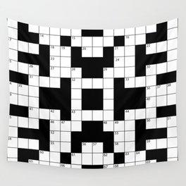 Cool Crossword Pattern Wall Tapestry