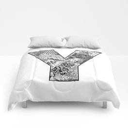 Cutout Letter Y Comforters