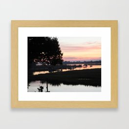 Sunrise at the Beach Framed Art Print