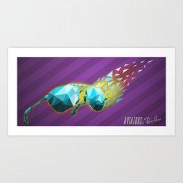 Poly Aviators Art Print
