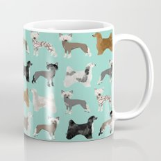 Chinese Crested dog breed variety of coats dog breed dog owner must have gifts for dog person Mug