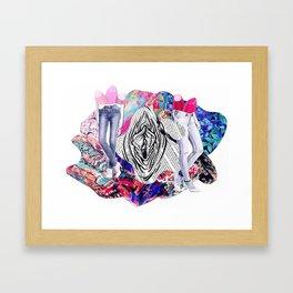 Vulva & Legs Framed Art Print