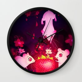 One Strawberry Wall Clock