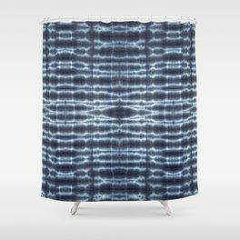 Linen Shibori Stripes Shower Curtain