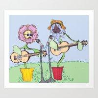 woodstock Art Prints featuring Woodstock Garden by Michele Baker