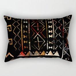 Golden Mud Cloth Rectangular Pillow