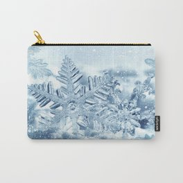 Snowflake Crystals Carry-All Pouch