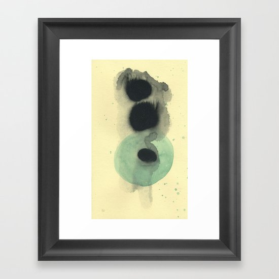 Cosmic Green Light Framed Art Print