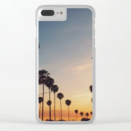 Palm Tree Summer Clear iPhone Case