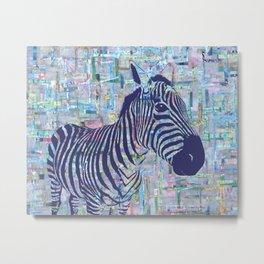 Zoe the Zebra Metal Print