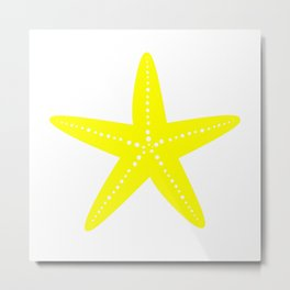Starfish (Yellow & White) Metal Print