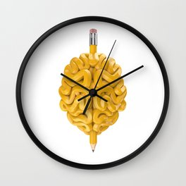 Pencil Brain Wall Clock