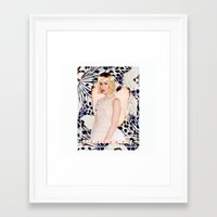 sarah paulson Framed Art Prints featuring Sarah Paulson Butterfly Edit by I Like Birds Too