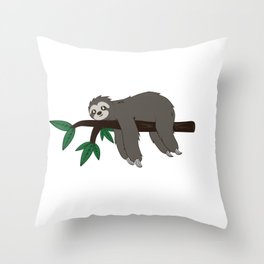 Sloth soul mate Funny Gamer Lazy Gift Throw Pillow