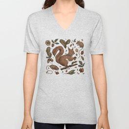 Red Squirrel Unisex V-Neck