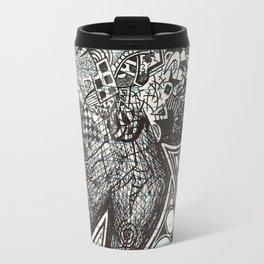 Red, Black, White, And Deja Travel Mug