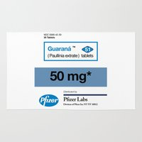 posters Area & Throw Rugs featuring Kitchen Posters - Viagra/Guarana by mvaladao