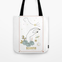 Scorpio Zodiac Series Tote Bag