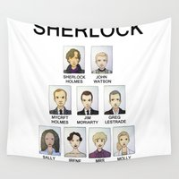 sherlock Wall Tapestries featuring Sherlock by Space Bat designs