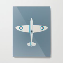 Supermarine Spitfire WWII fighter aircraft - Slate Metal Print