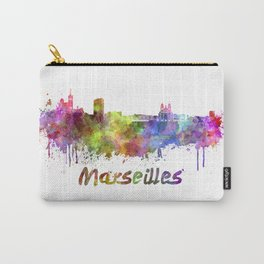 Marseilles skyline in watercolor Carry-All Pouch