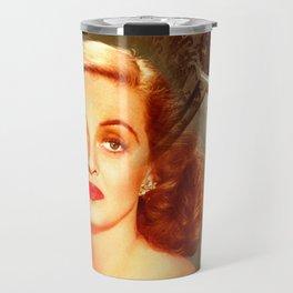 Bette Davis Collage Portrait Travel Mug