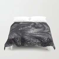 furry Duvet Covers featuring furry swirl by Matthias Hennig