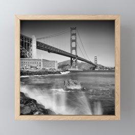 Golden Gate Bridge with breakers Framed Mini Art Print