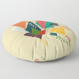 Whimsical kites Floor Pillow