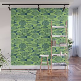 Fish Blue Green Wall Mural