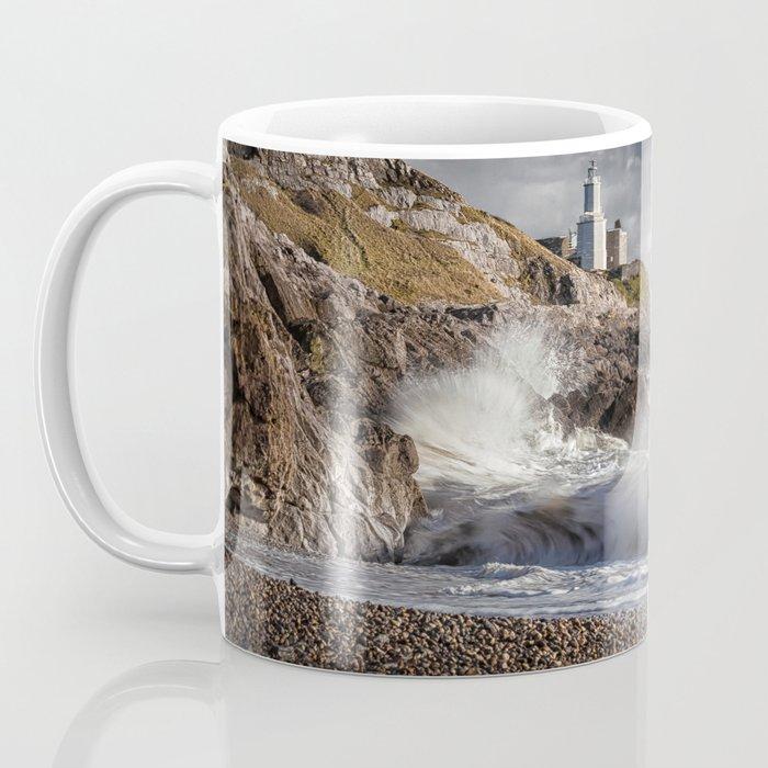 Bracelet Bay and Mumbles lighthouse Coffee Mug