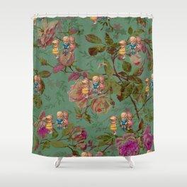 Hooping in The Rose Garden Shower Curtain