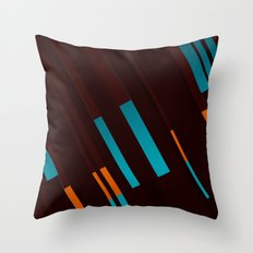 Canopus Blue Orange Throw Pillow