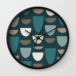 Turquoise Bowls Wall Clock