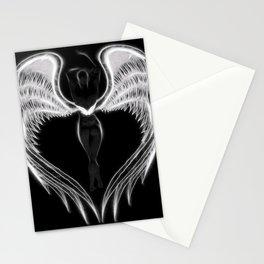 Angel negro de alas blancas Stationery Cards
