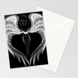 Angel negro de alas blancas Stationery Cards