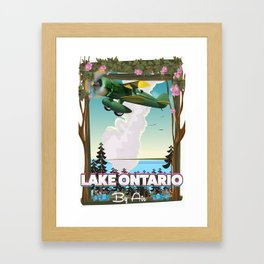 Lake Ontario North American flight poster Framed Art Print