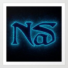 Nas Neon Art Print