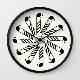 Vignette music note mandala Wall Clock