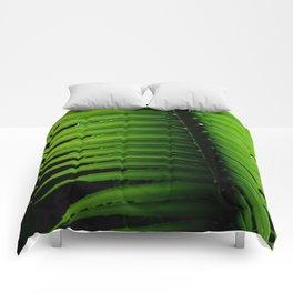 Palm tree leaf Comforters