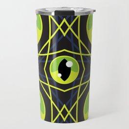 Halloween Green Eyes Travel Mug