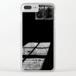 Shadows in the cabin Clear iPhone Case