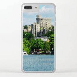 Windsor Castle from the River Thames Clear iPhone Case
