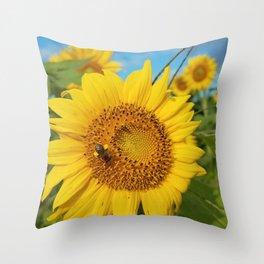 Sunshine Bouquet Throw Pillow