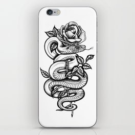 Snake and Rose iPhone Skin