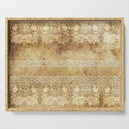 Vintage. The old lace. Vintage fabric . Serving Tray