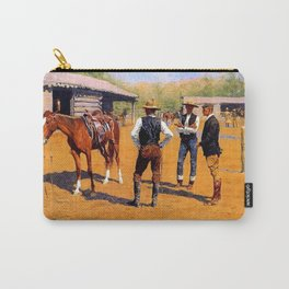 "Frederic Remington Western Art ""Buying Ponies in the West"" Carry-All Pouch"