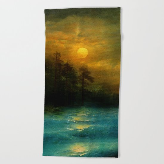 Hope, in the turquoise water. Beach Towel